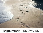 Footprints In The Sand By The...