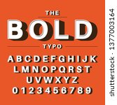 the bold typography | Shutterstock .eps vector #1377003164