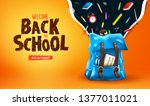 welcome back to school are you... | Shutterstock .eps vector #1377011021