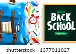 back to school greeting message ... | Shutterstock .eps vector #1377011027