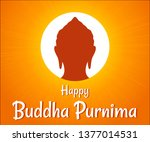 happy buddha purnima wishes... | Shutterstock .eps vector #1377014531