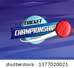 abstract cricket ball world... | Shutterstock .eps vector #1377020021