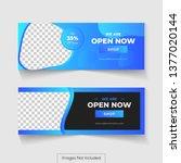 cover photo design for social... | Shutterstock .eps vector #1377020144
