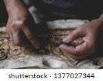 women hands working to create...   Shutterstock . vector #1377027344