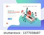 isometric hospital concept...   Shutterstock .eps vector #1377038687