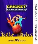cricket championship template... | Shutterstock .eps vector #1377041987