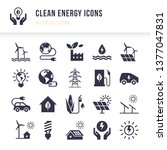 set of eco vector icons in flat ... | Shutterstock .eps vector #1377047831