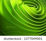 soft green rolled shape.... | Shutterstock .eps vector #1377049001