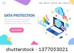 data protection. internet... | Shutterstock .eps vector #1377053021