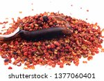 chinese prickly ash on a white... | Shutterstock . vector #1377060401