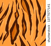 repeat pattern with tiger skin... | Shutterstock .eps vector #1377077141
