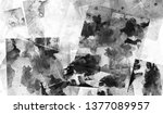dirty vintage black white gunge ...   Shutterstock . vector #1377089957