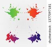 vector colorful paint splatter. ... | Shutterstock .eps vector #1377097181
