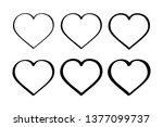 set heart. valentine's day... | Shutterstock .eps vector #1377099737