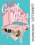 Good vibes, good life.  - stock vector