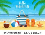 summer accessories for the...   Shutterstock .eps vector #1377110624