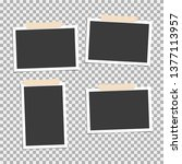 photo frame with adhesive tape  ... | Shutterstock .eps vector #1377113957