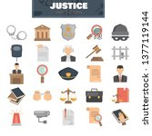 justice and law color flat... | Shutterstock .eps vector #1377119144