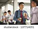 group of young businessmen... | Shutterstock . vector #137714051