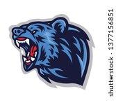 angry bear roaring  logo mascot ... | Shutterstock .eps vector #1377156851