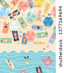 summer background. vector...   Shutterstock .eps vector #1377169694