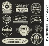 set of retro premium quality... | Shutterstock .eps vector #137716997