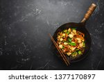 stir fry chicken with... | Shutterstock . vector #1377170897