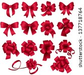 gift bows   set   isolated on... | Shutterstock .eps vector #137718764