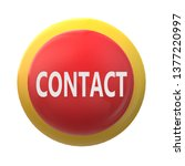 3d contact on white background. ...