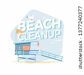 beach cleanup vector design... | Shutterstock .eps vector #1377240377