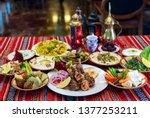 ramadan iftar buffet | Shutterstock . vector #1377253211