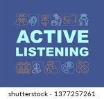 active listening word concepts...