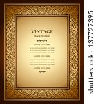 vintage background  antique... | Shutterstock .eps vector #137727395