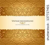 vintage background  antique ... | Shutterstock .eps vector #137727401