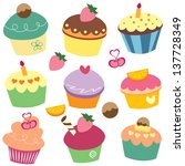 Yummy Cupcakes Clip Art