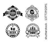 set of vintage brewery badges...   Shutterstock .eps vector #1377292091