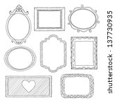 set of hand drawn doodle frames | Shutterstock .eps vector #137730935