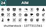 aim icon set. 24 filled aim... | Shutterstock .eps vector #1377311561
