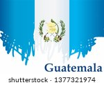 flag of guatemala  republic of... | Shutterstock .eps vector #1377321974