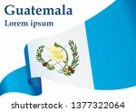 flag of guatemala  republic of... | Shutterstock .eps vector #1377322064