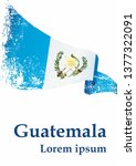 flag of guatemala  republic of... | Shutterstock .eps vector #1377322091