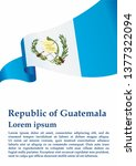 flag of guatemala  republic of... | Shutterstock .eps vector #1377322094