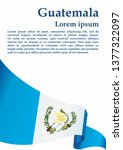 flag of guatemala  republic of... | Shutterstock .eps vector #1377322097