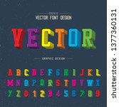 3d font color and alphabet... | Shutterstock .eps vector #1377360131