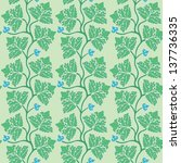 floral seamless pattern with... | Shutterstock .eps vector #137736335