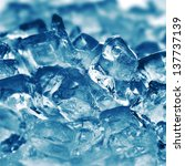 ice cubes very close up   Shutterstock . vector #137737139