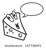 cartoon cheese with bubble... | Shutterstock .eps vector #137738591