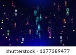 binary code. units and zeros in ...   Shutterstock . vector #1377389477