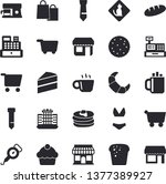 solid vector icon set   cake... | Shutterstock .eps vector #1377389927