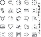 thin line icon set   identity...